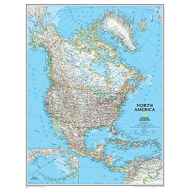 National Geographic Maps North America Wall Map
