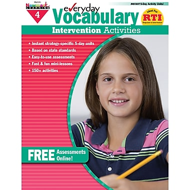 Newmark Learning Everyday Vocabulary Intervention Activity Book, Grade 4