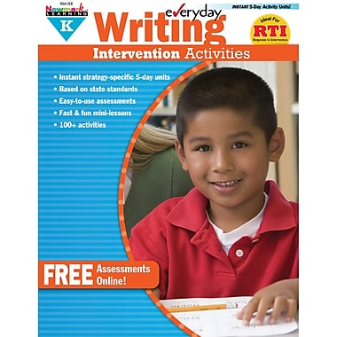 Newmark Learning Everyday Writing Intervention Activity Book, Grade K