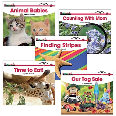 Newmark Learning Sight Word Readers Complete Math 16 Title Book Set, Grade PreK - K