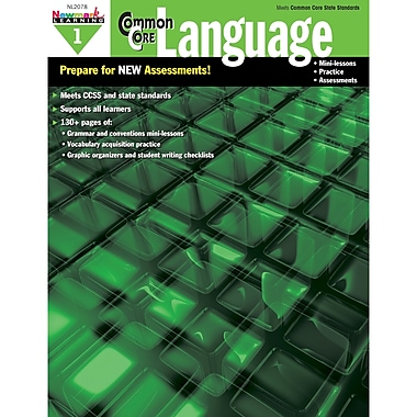 Newmark Learning Common Core Practice Language Activity Book, Grade 1