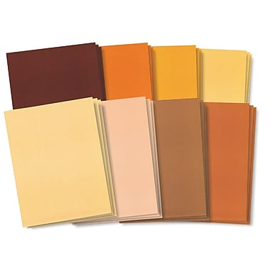Roylco® 8 1/2in. x 11in. Skin Tone Craft Paper