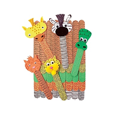 Roylco R-39100 Multicolor Wild Animal Craft Sticks, 1