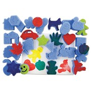 "Roylco R-55005 Multicolor Shapes Sponges, 2.18"", 30/Pack"
