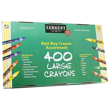 Sargent Art® Best Buy Large Size Crayon, 400/Pack