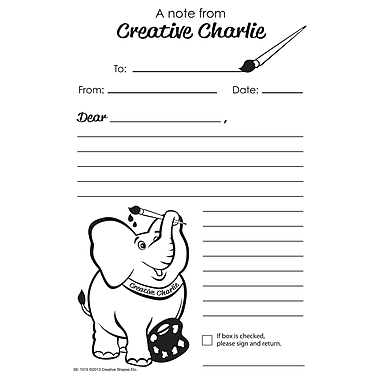 Creative Shapes™ Blank Note Notes From Creative Charlie