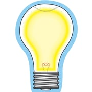 "Creative Shapes™ 3"" x 3"" Mini Notepad, Light Bulb"