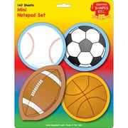 "Creative Shapes™ 3"" x 3"" Mini Notepad Set, Sports"