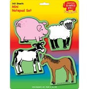 "Creative Shapes™ 3"" x 3"" Mini Notepad Set, Farm"