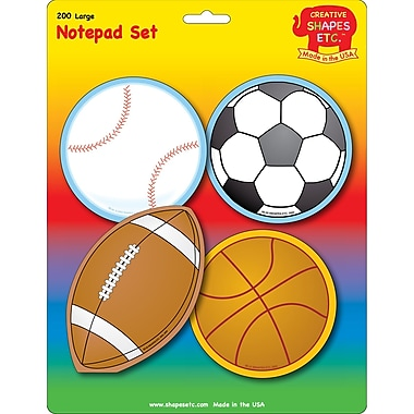 Creative Shapes™ Large Sports Notepad Set 5