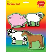 "Creative Shapes™ 5"" x 7"" Large Notepad Set, Farm"