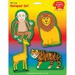 "Creative Shapes™ Large Zoo Notepad Set 5"" x 7"", Green/Yellow (SE-7948)"