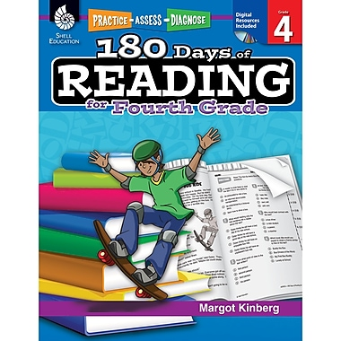 Shell Education Practice, Assess, Diagnose 180 Days of Reading Book, Grade 4