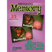 Stages Learning Materials® Insects and Bugs Photographic Memory Matching Card Game, Grades PreK - 3