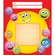 Silver Lead-Sandy Lion Happy Faces Incentive Chart Pad, 5 1/4 x 6