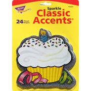"Trend Enterprises® 5 1/2"" Sparkle Classic Accents, Birthday Cupcakes"