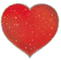 Trend Enterprises® 5 1/2in. Sparkle Classic Accents, Shimmering Hearts