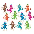 Trend Enterprises® 5 1/2in. - 6in. Classic Accents Variety Pack, Sock Monkeys Solids