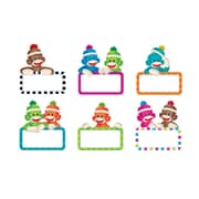 Trend Enterprises® 5 1/2 - 6 Classic Accents Variety Pack, Sock Monkeys Signs