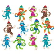 "Trend Enterprises® 5 1/2"" - 6"" Classic Accents Variety Pack, Sock Monkeys Patterns"