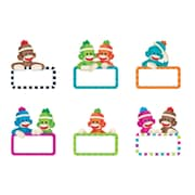 "Trend Enterprises® 3"" Mini Accents Variety Pack, Sock Monkeys Signs"