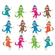 "Trend Enterprises® 3"" Mini Accents Variety Pack, Sock Monkeys Solids"