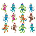 Trend Enterprises® 3in. Mini Accents Variety Pack, Sock Monkeys Patterns