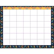 Trend Enterprises® Wipe Off® Monthly Calendar, Paisley/Blank