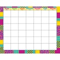 Trend Enterprises® Wipe Off® Monthly Calendar, Snazzy/Blank