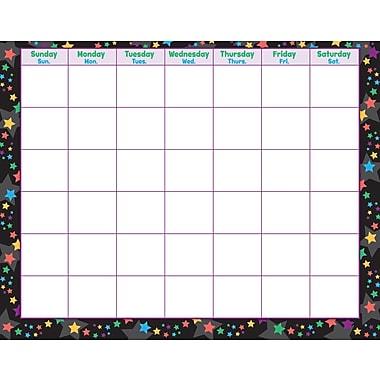 Trend Enterprises® Stargazer Wipe Off® Monthly Calendar, Blank/Stars