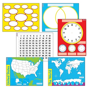Trend Enterprises® Wipe Off® Charts and Maps Combo Pack, 17