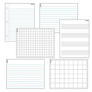 Trend Enterprises® Wipe Off® Papers & Grids Combo Pack, 17