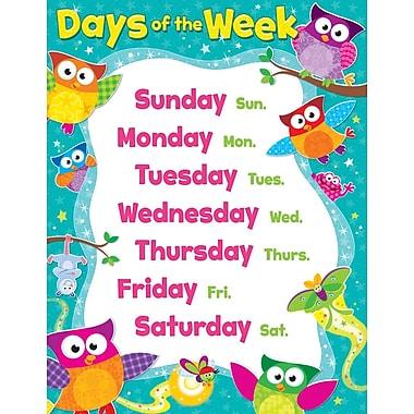 Trend Enterprises® Days Of The Week Owl Stars! Learning Chart