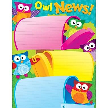 Trend Enterprises® Owl News Owl Stars! Learning Chart