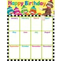 Trend Enterprises® Birthday Sock Monkeys Learning Chart, Birthday