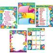 Trend Enterprises® Classroom Basics Owl Stars! Learning Chart Combo Pack