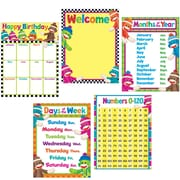 Trend Enterprises® Classroom Basics Sock Monkeys Learning Chart Combo Pack