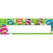 Trend Enterprises® Desk Toppers® PreKindergarten - 3 Grade Name Plate, Sock Monkeys