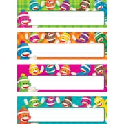 Trend Enterprises® Desk Toppers® PreKindergarten - 3 Grade Name Plate Variety Pack, Sock Monkeys