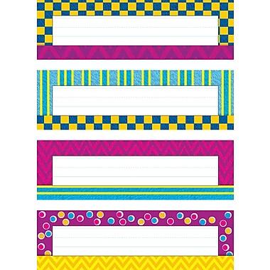 Trend Enterprises® Desk Toppers® PreKindergarten - 9 Grade Name Plate Variety Pack, Snazzy