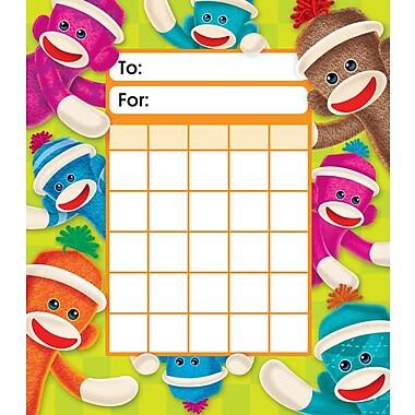 Trend Enterprises® Sock Monkeys Incentive Pad, 5 1/4