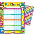 Trend Enterprises® Sock Monkeys Chore Chart, 8 1/2in. x 11in.