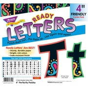 "Trend Enterprises® Perfectly Paisley Friendly 4"" Uppercase/Lowercase Ready Letters® Combo Pack"