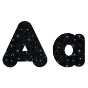 "Trend Enterprises® Sparkle Casual 4"" Uppercase/Lowercase Ready Letters® Combo Pack, Black"