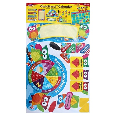 Trend Enterprises® Calendar Bulletin Board Set, Owl/Stars