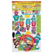 Trend Enterprises® Calendar Bulletin Board Set, Sock Monkeys