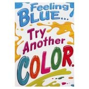 "Trend Enterprises® ARGUS® 13 3/8"" x 19"" ""Feeling Blue.Try Another Color"" Poster"