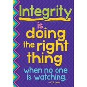 "Trend Enterprises® ARGUS® 13 3/8"" x 19"" ""Integrity Is Doing The Right Thing When No On..."" Poster"