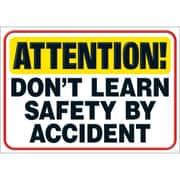 """Trend Enterprises® ARGUS® 13 3/8"""" x 19"""" """"ATTENTION Don't Learn SAFETY By Accident"""" Poster"""