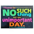 Trend Enterprises® ARGUS® 13 3/8in. x 19in. in.There Is No Such Thing As An Unimportant Dayin. Poster